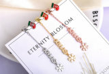 De Juwelen van de Gift van Kerstmis van het Ontwerp van de Sneeuw van Enanel van de Juwelen van de manier voor de Jonge Rhodium van de Verkoop van CZ van de AMERIKAANSE CLUB VAN AUTOMOBILISTEN van de Vrouw Hete Gouden Gele Geplateerde Zilveren Juwelen van de Oorring (561283281435)