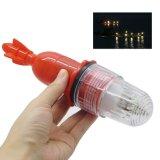 3V 2 PCS AAA 활성화되는 배터리 전원을 사용하는 어망 LED 가벼운 어업 유혹 신호등 빛 낚시질