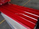 La couleur du revêtement de zinc métal ondulé galvanisé prélaqué de toiture de feuilles de toit