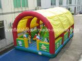 Trampolino gonfiabile personalizzato con la tenda