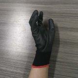 перчатки безопасности вкладыша полиэфира 13G покрынные PU работая