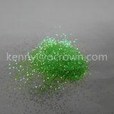 Poudre vert clair de scintillement d'hologramme de renivellement de 21600 produits de beauté
