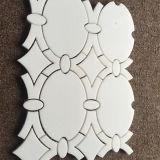 Горячая мозаика Thassos скачками формы сбывания белая мраморный