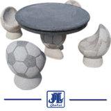 Природного гранита мрамора стол и стул для сада украшения