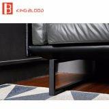 Nuevo en los diseños determinados Nappa Leathe del sofá genuino negro de Hotsale para la oficina 2017
