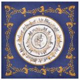 Digital personalizado de la plaza Pringting Pañuelo de seda para las mujeres fabricante mayorista pedido pequeño