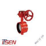 Todo o tipo UL/FM válvula borboleta da caixa de velocidades com a alavanca manual para Fabricação na China