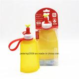 Grad-Silikon-zusammenklappbare Wasser-Flasche der Nahrung300ml für Kinder