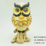 Venda por grosso de resina artesanais corujas na árvore Figurine Animal de resina artesanato