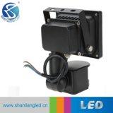 sensor ao ar livre da luz de inundação PIR do diodo emissor de luz Projector/LED de 10W 20W 30W 50W