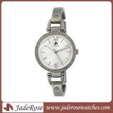 2017人の新しい女性方法ダイヤモンドの水晶腕時計、ステンレス鋼の腕時計