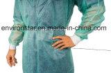 Fabrik-Verkauf PET blaues medizinisches Lokalisierungs-Wegwerfkleid mit elastischer Stulpe
