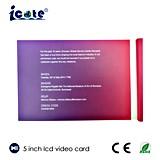 De aangepaste Kaart van de Groet van de Bevordering van 5 Duim TFT LCD Video