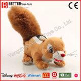 Soft animal en peluche de jouets en peluche écureuil permanent pour les cadeaux