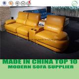 Sofa en cuir fonctionnel de loisirs de salle de séjour moderne avec la mémoire