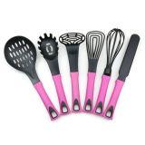 Комплект утвари инструмента кухни устройств Cookware промотирования фабрики цветастый Nylon с ручкой TPR