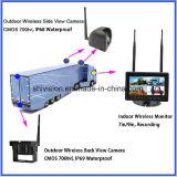 Sistema sem fio da câmera do carro com tela do quadrilátero