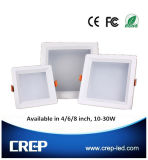 15-25W 6 인치 사각 LED Downlight, 80lm/W