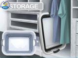 Panier de blanchisserie pliable en plastique de Dehuan pour la salle de bains