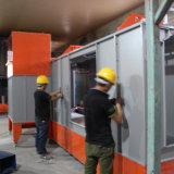 Revestimiento en polvo de cabina de Pintura electroestática.