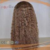 熱い販売の完全なブロンドのバージンの毛のレースのかつら(PPG-l-01330)