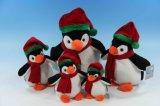 Usine directement un jouet en peluche Animaux de Noël de l'ours Penguin avec chapeau & foulard