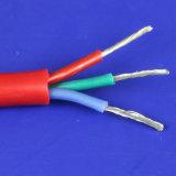 Funda de silicona de 3 núcleos de los cables de cobre Flexible Cable