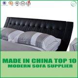 Base tapizada contemporánea moderna negra de los muebles del dormitorio sola