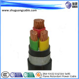 PVC VV22 à un noyau a isolé et a engainé le câble d'alimentation blindé de bande en acier