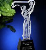 La competencia de la moda Golfball trofeo de cristal para coincidir con honor