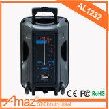 """フットボール様式12の""""充電電池Al1232 Temeisheng Kvgが付いている携帯用トロリー浮遊スピーカー"""