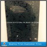 Pedra preta artificial projetada de quartzo para bancadas da pedra da cozinha e partes superiores do banco