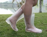 Laarzen van de Regen van pvc van Lucency de Transparante, de Transparante Laarzen van Vrouwen, de Transparante Laars van Dames
