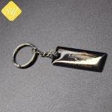 Anello stampato ferro su ordinazione all'ingrosso della catena chiave del metallo per la promozione