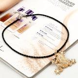 Шкентель лягушки вставки диаманта с кожаный ожерельем провода, цепью шеи свитера