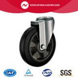 8 Zoll-Bremsen-Bolzenloch-Aluminiumkern-Gummieuropa-Typ industrielle Fußrollen