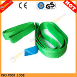 2t Green 100% Polyester Webbing Liftinf Sling