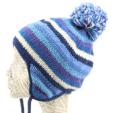 Женские зимние трикотажные Beanie POM POM Red Hat Earflap колпачки Red Hat
