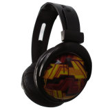 Wired Light Weight Foldable Gift Headphone with Full Logo Print for Promotion.