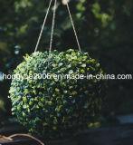 Künstliche Grastopiary-Solarkugel mit LED-Licht