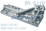 Coperchio laterale di alluminio 6D95 (5P) (OEM del radiatore dell'olio di KOMATSU: 6207-61-5210) (tipo spesso)