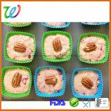 Fabrik-FDA-gebilligtes Großhandelsset 10 Stück-Silikon-Muffin-Kästen