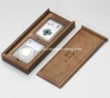 Insignia grabada laser de la aduana que resbala los rectángulos de madera del recuerdo
