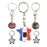 Großhandels-Soem 3D bezeichnet Zahl-Wort-Firmenzeichen-kundenspezifisches Metall Keychains mit Ring für Förderung und Geschenke mit Buchstaben