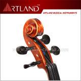 La parte superior de ébano Venta Colocación de madera maciza estudiante violín Matt rojo oscuro (GV104H)