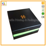 Contenitore di regalo impaccante del cartone di carta nero (OEM-GL001)