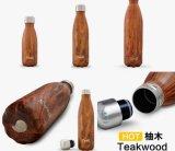 Logotipo personalizado de pared doble de acero inoxidable Botella de agua de la inflamación de vacío Vacío/Deportes Gimnasio sublimación cola botella con tapa de acero