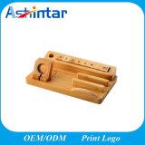 Muelle múltiple universal de la estación de carga, sostenedor de madera de bambú del muelle de la carga