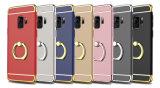 Samsung 은하 S9 단단한 PC 상자를 위한 전기도금을 하는 반지 전화 상자