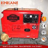 空気冷却の6kw赤く黄色い電気ディーゼル発電機